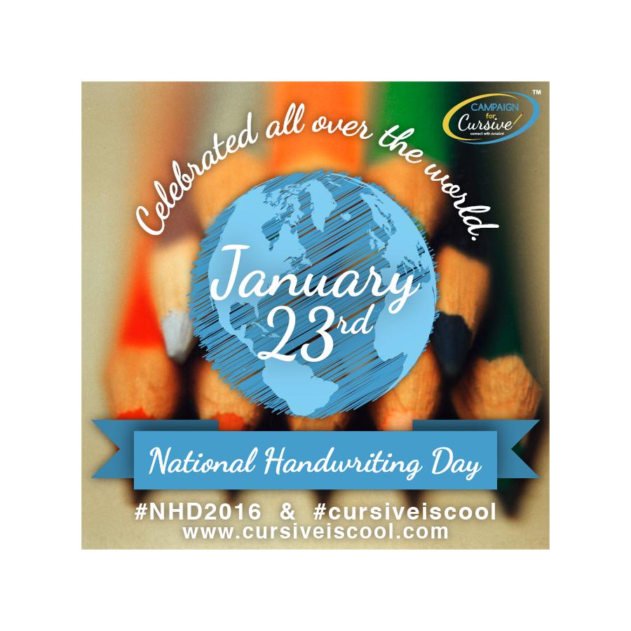 Ntl Handwriting Day with world C4C Mason Ping design
