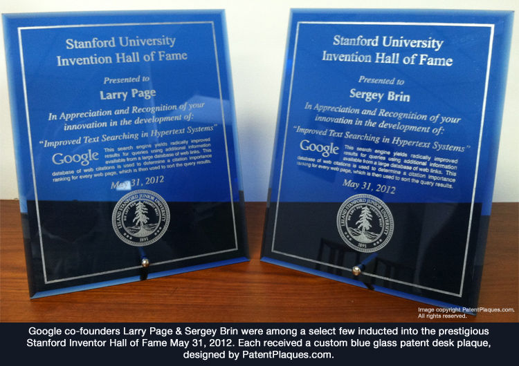 patent plaques for google co-founders