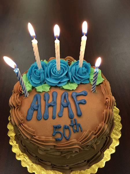 AHAF 50th Anniversary cake