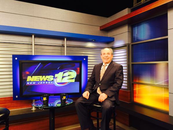 Dr. Gashinsky on set at News 12 New Jersey