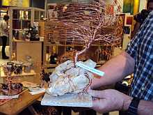 Wire Bonsai Tree Demo by WNC Artist Jim Begthol