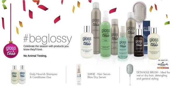 Gloss & Toss announces Holiday and Beauty Gift Guide Ideas and Solutions for hair this season