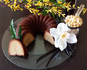 Gluten-Free Vanilla Bean Rum Cake