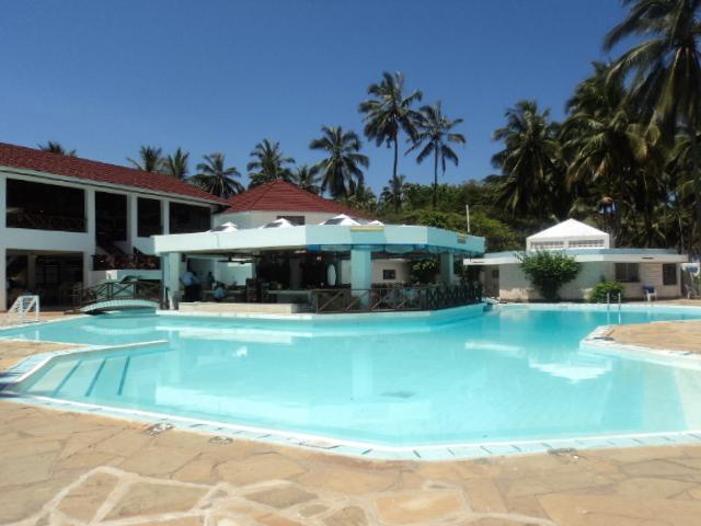 beach resort with swimming pool