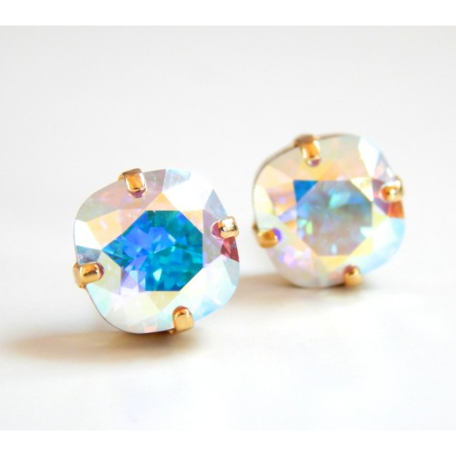 Square Hologram Statement Earrings