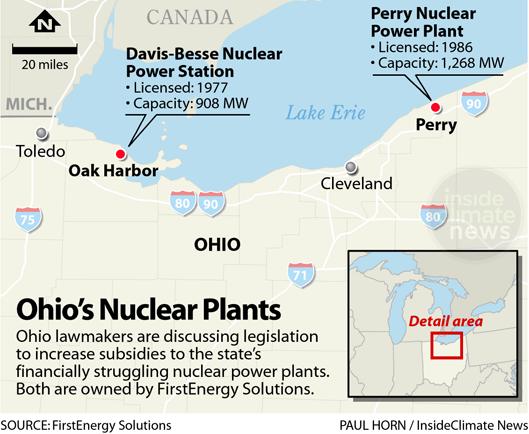 Energy Harbor nuclear plants in Ohio