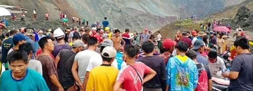 160 at Myanmar jade mining site