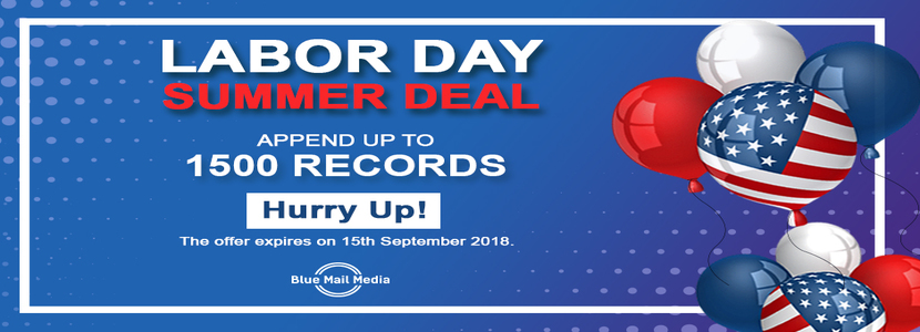 Attractive Offer for Labors Day by Blue Mail Media