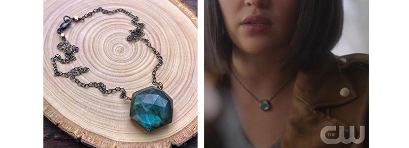 ZoeBird Designs Labradorite Hexagon Necklace on Charmed