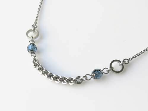 Blue Twist Chainmaille Necklace from Alyce n Maille, as worn on Jane the Virgin