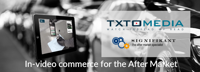 TXTOmedia to create how-to videos with spare parts commerce