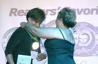 Debra Gaynor presents Gold Medal to Judy Brizendine