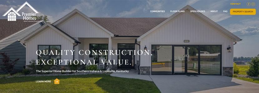Premier Homes New Website