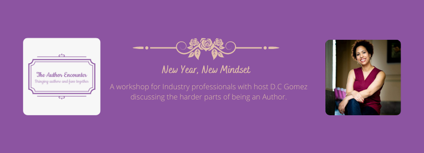 Banner for New Year, New Mindset a workshop for authors