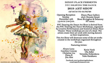 NYC Drawing the Dance 2019 ART SHOW!
