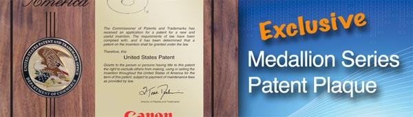 PatentPlaques New Medallion Series Patent Plaque