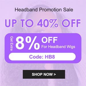 Julia headband wig promotion sale