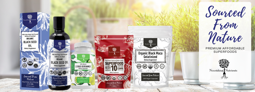Nourishing Nutrients products. Affordable, premium organic quality superfoods.