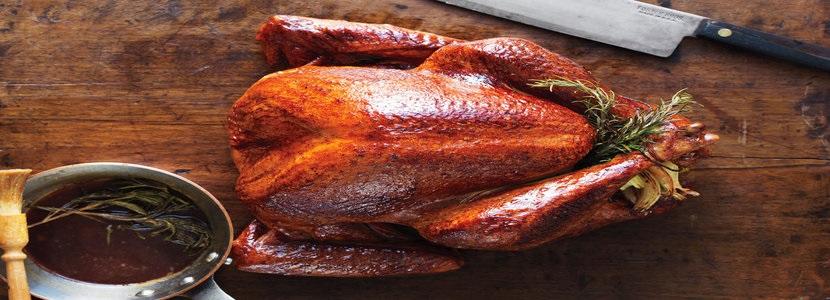 Apple Cider, cinnamon + sage brined Turkey