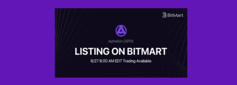 Aphelion Token (APH) Listing on BitMart Exchange