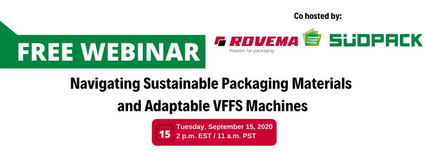 Rovema Announces September 15 Sustainable Packaging Webinar