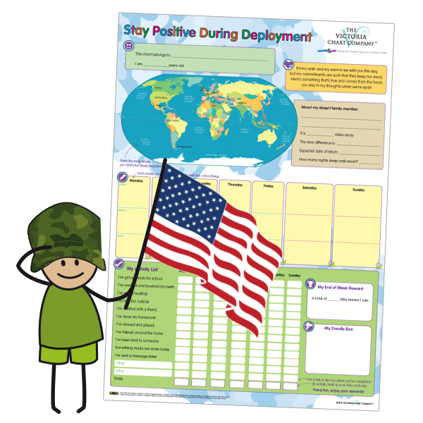 The Victoria Chart Company's Deployment Reward Chart supports children of US military families