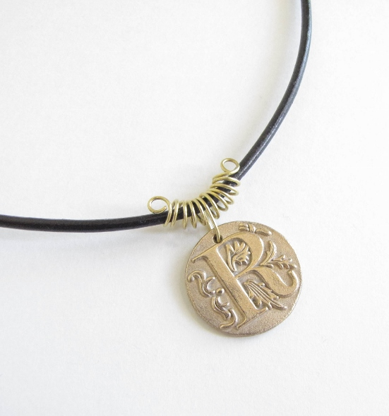 Handcrafted Initial Pendant Necklace from EvaLine Jewelry