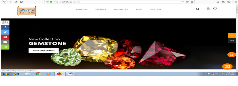 Astrokapoor is the largest e-commerce portal for gemstone and astro-consultation
