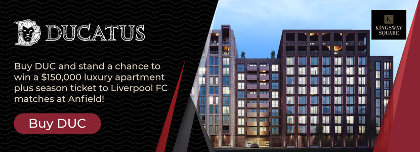 Buy Ducatus Coin and stand a chance to win a luxury studio apartment in Liverpool