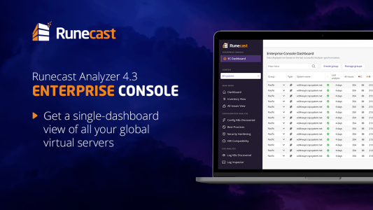 Newly patented Runecast Analyzer improves control over large VMware & AWS environments