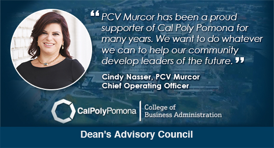 Cindy Nasser, PCV Murcor, Chief Operating Officer Named to Dean's Advisory Council