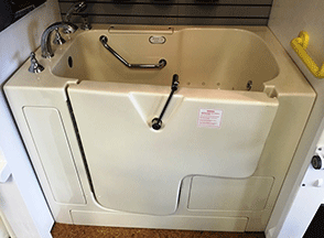 Handicap Tubs and bathtub with door for seniors at 40 percent off with free shipping.