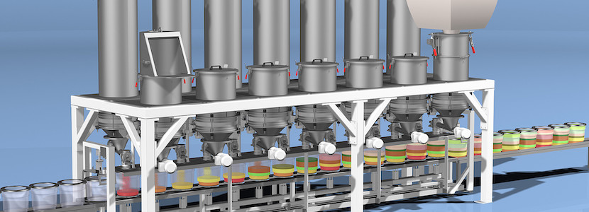 AZO componenter for minor and micro food ingredient batching & weighing