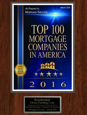Top 100 Mortgage Companies in America 2015