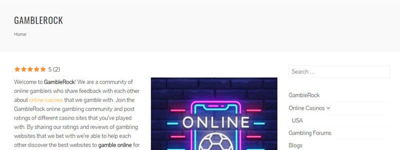 GambleRock - Social Online Gambling Community