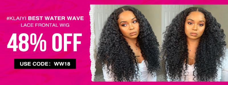 Klaiyi Hair End of Season Sale Upto48%OFF for WaterWaveLaceFrontWig
